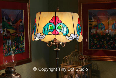 Stained Glass Lampshade by Tiny Dot Studio